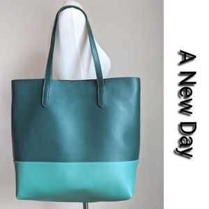 NWOT Two-Toned Green A New Day Tote